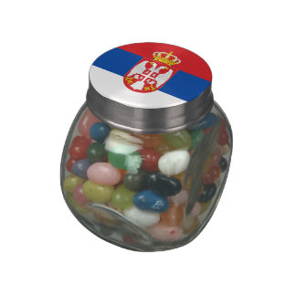 Serbia Glass Candy Jar