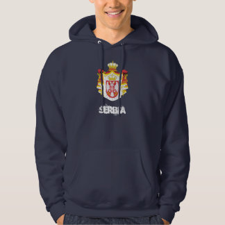 Serbia with coat of arms hoodie
