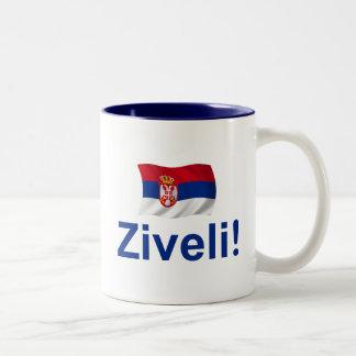 Serbia Ziveli! Two-Tone Mug