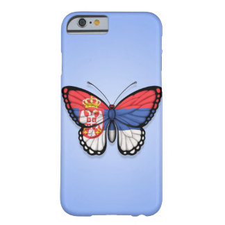 Serbian Butterfly Flag on Blue Barely There iPhone 6 Case