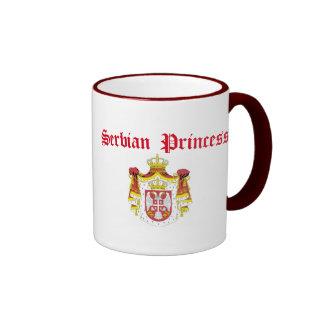 Serbian Princess (with Serbia Coat of Arms) Ringer Mug