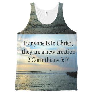 SERENE 3 CORINTHIANS 5:17 OCEAN SCENE PHOTO All-Over PRINT SINGLET