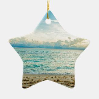 Serene Aqua Christmas Ornament