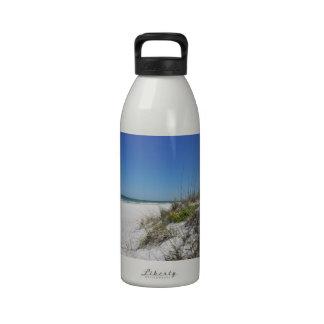 Serene Beach Sea Oats 2 Florida Beach Scene Water Bottles