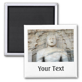 Serene Buddha Image Square Magnet