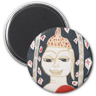 serene buddha Round Magnet