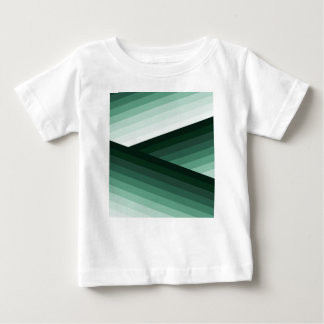 Serene Contemporary Green Ombre Design Baby T-Shirt