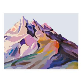 Serene Mountains Design Postcard