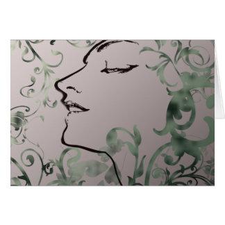 Serenity Art Deco Fantasy Card