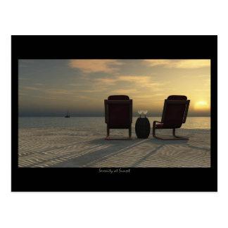 serenity at sunset postcard