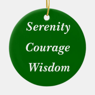Serenity, Courage, Wisdom Christmas Tree Ornaments