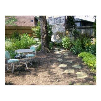Serenity In The Backyard Patio Postcard