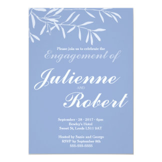 Serenity | Modern Engagement Party Invitation