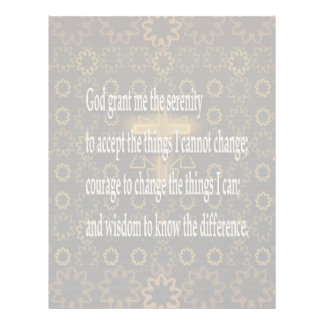Serenity Prayer Flyer