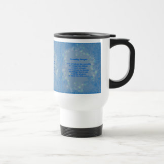 Serenity Prayer Hearts Inspirational Travel Mug