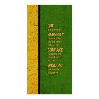 Serenity Prayer: Patriotic Jamaica, Strength/Recov Photo Card