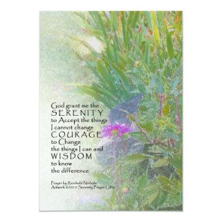 Serenity Prayer Summer Garden Invitation