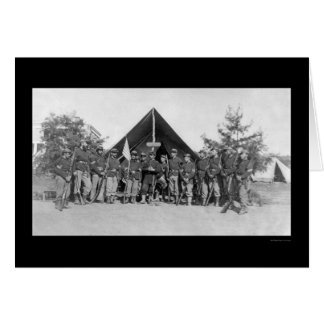 Sergeants Near Harper's Ferry, VA 1862 Card