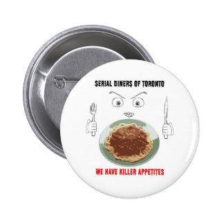 Serial Diners3 - Killer Appetite 6 Cm Round Badge