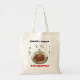 Serial Diners3 - Killer Appetite Budget Tote Bag