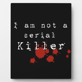 Serial Killer Display Plaque