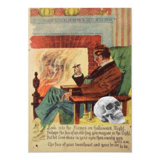 Serial Killer Ghost Spirit Skull Death Bride 13 Cm X 18 Cm Invitation Card