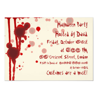 Serial Killer Halloween Party 5x7 Paper Invitation Card