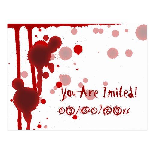 Serial Killer Halloween Party Invitation Post Card