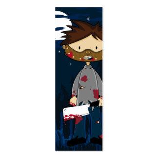 Serial Killers Bookmark Business Card Template
