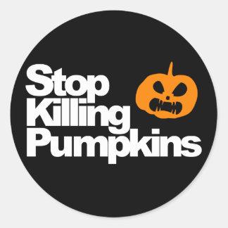 Serial Pumpkin Killer - Halloween Round Sticker