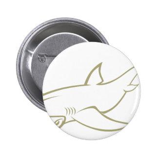 Serious Hammerhead Shark Buttons
