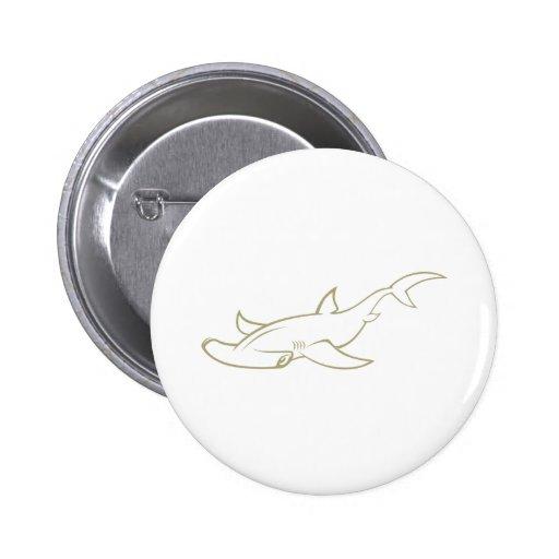 Serious Hammerhead Shark Button
