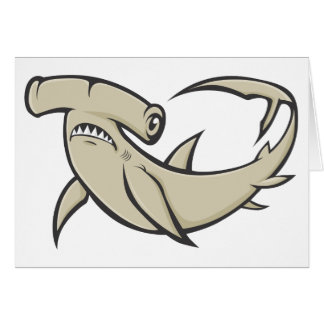 Serious Hammerhead Shark Greeting Card
