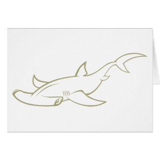 Serious Hammerhead Shark Cards