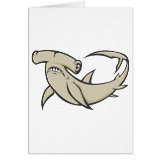 Serious Hammerhead Shark Card
