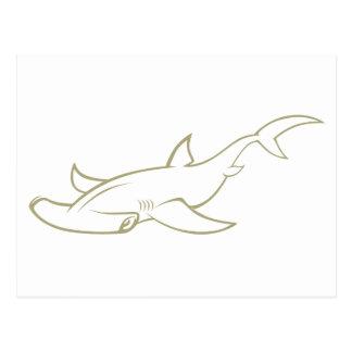 Serious Hammerhead Shark Postcard
