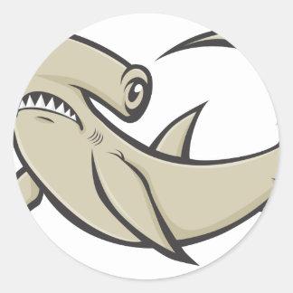 Serious Hammerhead Shark Sticker