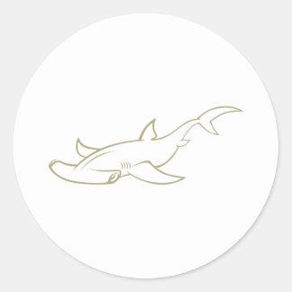 Serious Hammerhead Shark Stickers