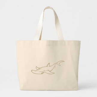 Serious Hammerhead Shark Tote Bags