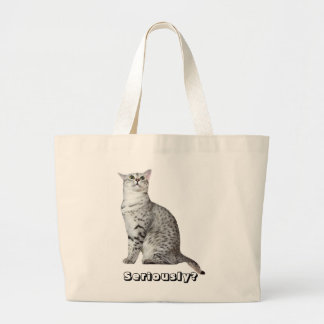 Seriously? Kitty Jumbo Tote Bag