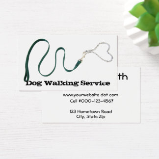 Serpentine Green Leash & Heart Chain Business Card