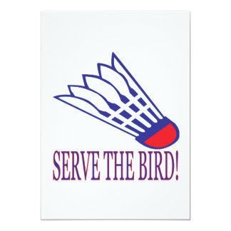 Serve The Bird Card