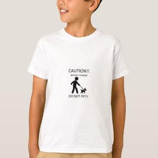 Service Human Man with Dog.jpg T-Shirt