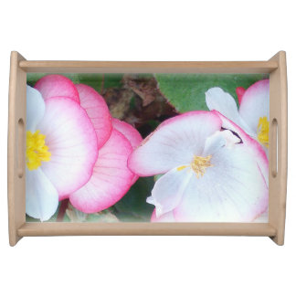 Serving Tray with pretty flowers