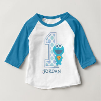 Sesame Street | Cookie Monster First Birthday Baby T-Shirt