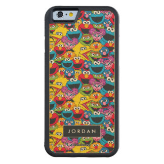 Sesame Street Crew Pattern | Add Your Name Carved Maple iPhone 6 Bumper Case