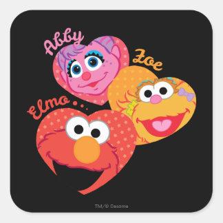 Sesame Street Friends Square Sticker