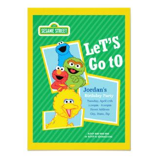 Sesame Street Pals Birthday 11 Cm X 16 Cm Invitation Card