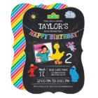 Sesame Street Pals Chalkboard Photo Birthday Card