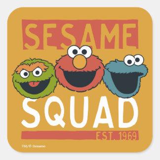 Sesame Street - Sesame Squad Square Sticker
